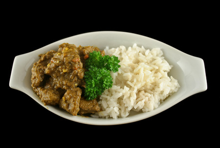 A Special Beef Vindalo on Coconut Basmati Rice GF DF
