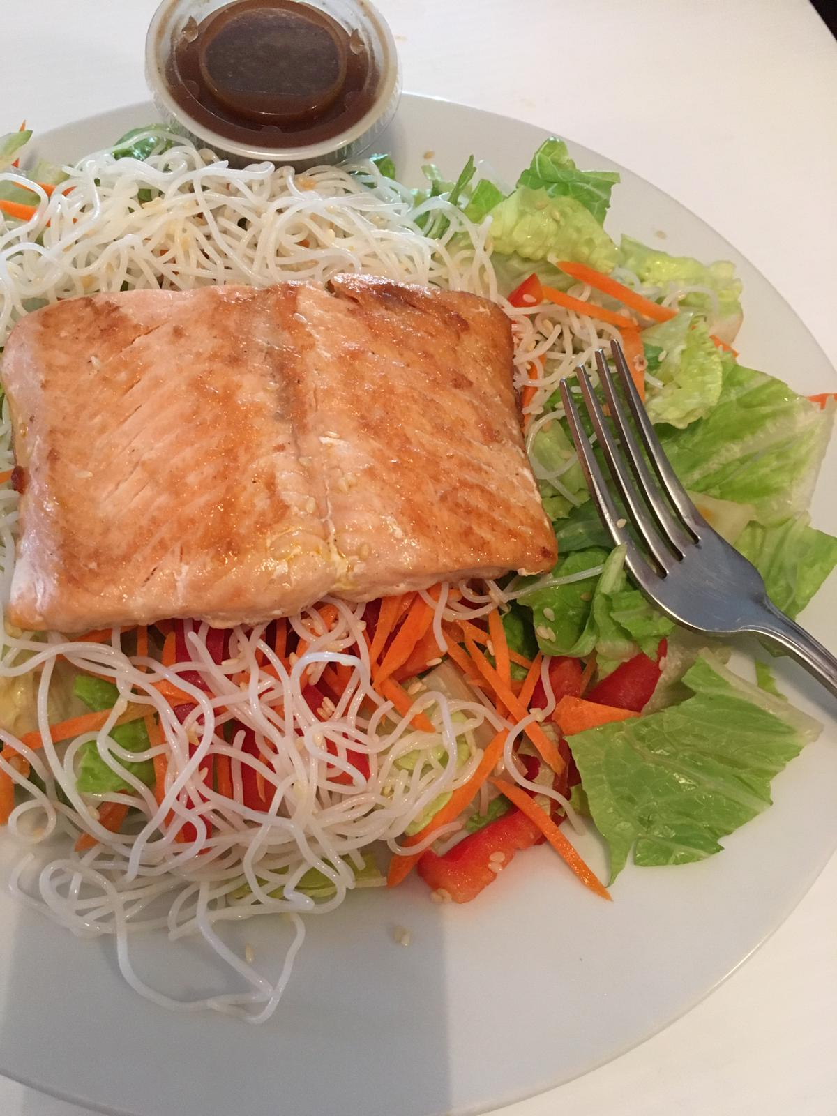 Thai Noodle Salmon Salad GF DF