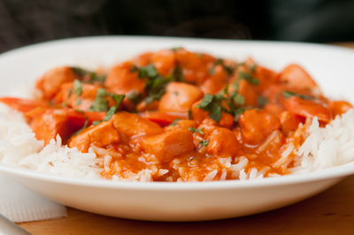 Butter Chicken on Brown Rice 4 SERVINGS FAMILY GF