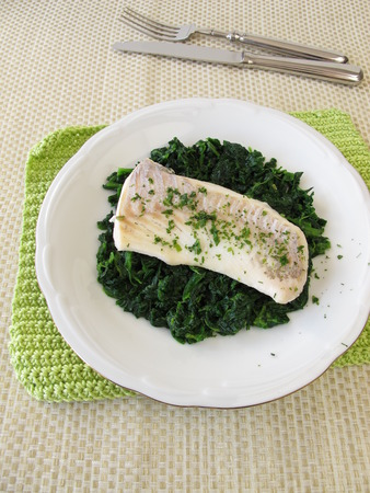 Wild Haddock on Steamed Greens GF